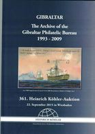 Archive Gibraltar Philatelic Bureau (Heinrich Köhler) - Auktionskataloge