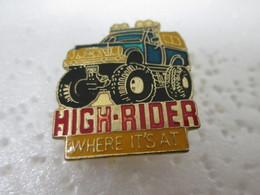 PIN'S    HIGH  RIDER - Badges