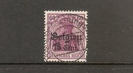 001742 German Occupation Of Belgium 1916 75c FU - Zone Belge