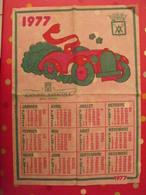 Affiche Calendrier 1977. L'anjou Vinicole, Vihiers Papier Indéchirable - Publicité