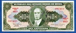 Brésil   -- 1 Centavo On 10 Cruzeiros    --    Pick # 183 -  état  SPL - Brésil