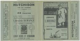 Couvre-livre Couvre-cahier Publicitaire Librairie Durance Nantes - Hutchinson - Radio Eldé - Papeterie