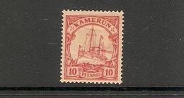 001764 German Cameroun 1900 10pf MH - Colony: Cameroun