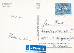 Aland 2001 Vardo Fishing EUROPA CEPT Viewcard - Aland