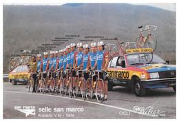 CARTE CYCLISME GROUPE TEAM SELLE SAN MARCO 1982 FORMAT 20 X 30 - Radsport