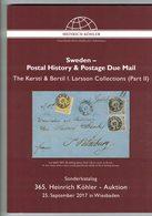 Sweden  (Heinrich Köhler) - Catalogues For Auction Houses