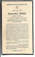 Carte Décès Marguerite-Marie Torrelle. Institutrice à Rosendaël Décédée Le 6 Avril 1931. - Vieux Papiers