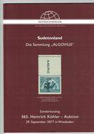 Sudetenland (Heinrich Köhler) - Catalogues For Auction Houses
