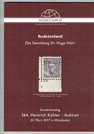 Sudetenland (Heinrich Köhler) - Catalogues De Maisons De Vente