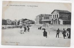 (RECTO / VERSO) PALAVAS LES FLOTS EN 1915 - LE GRAND HOTEL AVEC PERSONNAGES - CPA VOYAGEE - Palavas Les Flots