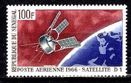 SÉNÉGAL Aer52* 100f Violet, Rouge-brun Et Gris Satellite Français D1 - Senegal (1960-...)
