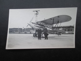 PHOTO AVIATION BELGIQUE (V1822) AVION BI-PLAN à EVERE Ou HAREN (2 Vues) - Aviación