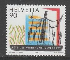 TIMBRE NEUF DE SUISSE - FETE DES VIGNERONS A VEVEY, EN 1999 N° Y&T 1615 - Cultures