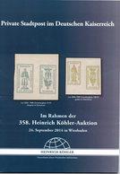Private Stadpost In Deutschen Kaiserreich (Heinrich Köhler) - Catalogues For Auction Houses