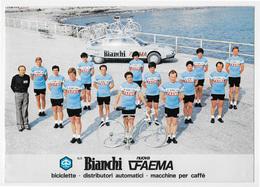 CARTE CYCLISME GROUPE TEAM BIANCHI - FAEMA 1979 FORMAT 17 X 24 - Radsport