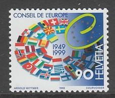 TIMBRE NEUF DE SUISSE - 50E ANNIVERSAIRE DU CONSEIL DE L'EUROPE N° Y&T 1616 - Institutions Européennes