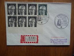 (S) DEUTSCHE BUNDESPOST DUITSLAND REGISTRED COVER 1971  SONDERSTEMPEL MIXED FRANKING - Lettres & Documents