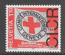 TIMBRE NEUF DE SUISSE - CINQUANTENAIRE DES CONVENTIONS DE GENEVE N° Y&T 1617 - Croix-Rouge