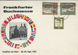 Germany - Frankfurter Buchmesse. Sent To England 1962     B-3378 - Frankfurt A. Main