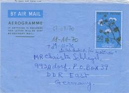 30814. Aerograma, Aerogramme KARACHI (west Pakistan) 1970. Algodon Cotton Flowers - Pakistán