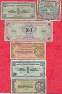 6 Billets Militaires --Allemagne-Uk-Autriche-Italie Dans L 'état - Billets