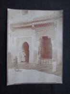 PHOTO MAROC (V1822) MARRAKECH (2 Vues) Photo Félix Fournitures Vues Du Pays B Palais Année 20 - Afrique