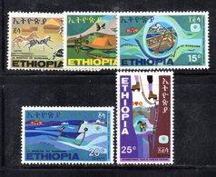 ETP149 - ETIOPIA 1969 ,  Yvert  N. 541/545   *** MNH  TURISMO - Etiopia