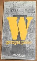 W Ou Le Souvenir D'enfance - Georges Pérec - Livres, BD, Revues
