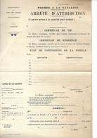Papier Prime à La Natalité Pour Enfant. Arrêté D'Attribution. Département Du Pas-de-Calais. - Documents Historiques