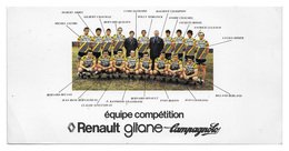 CARTE CYCLISME GROUPE TEAM RENAULT 1978 FORMAT 10,5 X 21 - Radsport
