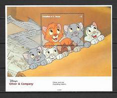 Disney St Vincent 1992 Oliver & Company MS #2 MNH - Disney
