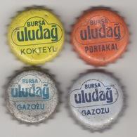 TURKEY BIER CAP KRONKORKEN ULUDAG GAZOZU , CROWN CAP KRONKORKEN CAPSULE TAPPI CHAPA !!!!! - Beer