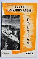 Revue école Les Saints Anges Pontivy 1968 Joseph Le Tinier Jean De Geyer Kayak Sur Le Signan équipe Foot Hand-ball - Vieux Papiers