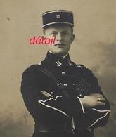 Photo Cartonnée-soldat 15e Régiment-cor Sur Col- Képi-Albert LAURENT Père De Juliette-photographie Moderne à LURE - War, Military