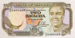 Zambia 2 Kwacha, P-29a (1989) - UNC - Signature 8 - Sambia