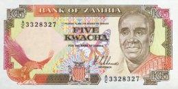 Zambia 5 Kwacha, P-30 (1989) - UNC - Signature 8 - Sambia