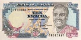 Zambia 10 Kwacha, P-31b - UNC - Signature 8 - Sambia