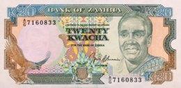 Zambia 20 Kwacha, P-32b - UNC - Signature 9 - Zambie