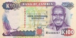 Zambia 100 Kwacha, P-34 (1991) - UNC - Signature 9 - Zambie