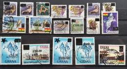 Ghana 1988-91 Surcharged  USED - Ghana (1957-...)