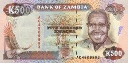 Zambia 500 Kwacha, P-35a (1991) - UNC - Signature 9 - Zambie