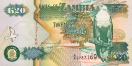Zambia 20 Kwacha, P-36a (1992) - UNC - Signature 10 - Sambia