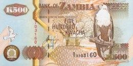 Zambia 500 Kwacha, P-39b (1992) - UNC - Signature 11 - Zambie