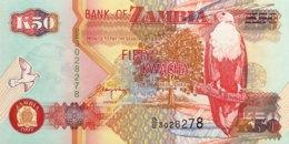 Zambia 50 Kwacha, P-37a (1992) - UNC - Signature 10 - Zambie