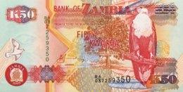 Zambia 50 Kwacha, P-37d (2003) - UNC - Signature 12 - Sambia