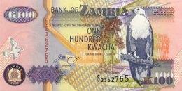 Zambia 100 Kwacha, P-38b (1992) - UNC - Signature 11 - Sambia