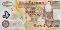 Zambia 500 Kwacha, P-43c (2004) - UNC - Signature 12 - Sambia