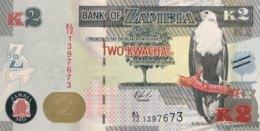 Zambia 2 Kwacha, P-56 (2015) - UNC - Zambie