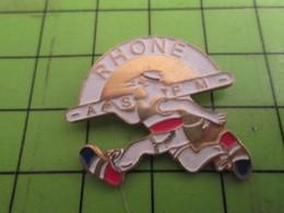 1115B Pin's Pins /  Rare & De Belle Qualité : THEME SPORTS / ATHLETISME ASFM RHONE - Athletics