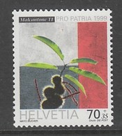 TIMBRE NEUF DE SUISSE - JEUNE POUSSE DE CHATAIGNIER (POUR LA PATRIE 1999) N° Y&T 1609 - Trees